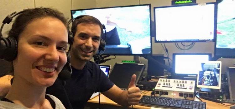 Kommentatorin | mit Audio2 bei Olympia
